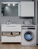Умивальник з тумбою і дзеркалом під пральну машину 150 см Fancy Marble Vivara білий