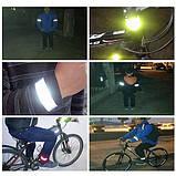 Лента светоотражающая, фликер, магнитный браслет на руку ногу 30 см, фото 5