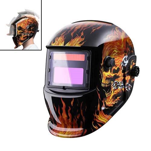 Маска для сварки, шлем сварочный с автозатемнением хамелеон, Deko MZ224