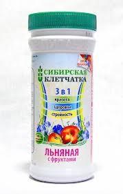 Сибирская клетчатка, льняная с фруктами, 280г