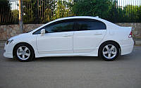 Honda Civic Sedan VIII 2006-2011 гг. Боковые пороги (под покраску)