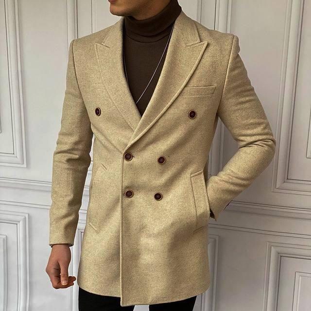 😜 Пальто - Мужское бежевое пальто на осень\ чоловіче пальто бежеве