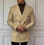 😜 Пальто - Мужское бежевое пальто на осень\ чоловіче пальто бежеве, фото 3