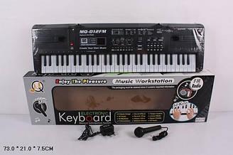 Музичний синтезатор орган від мережі 61 клавіша з мікрофоном FM радіо  MQ-012FM