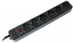 Сетевой фильтр черный PowerCube SPG3-B-15, 5 розеток, 4,5 метра,