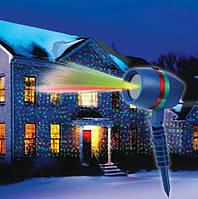 Проектор лазерный для улицы или дома, праздничный новогодний светильник Woterproof Garden проекторы