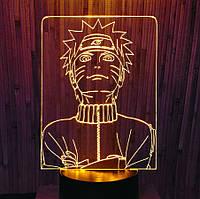 Ночник-светильник 3d Наруто желтый AVA-002