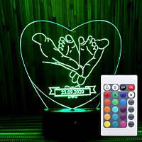 Оригинальный подарок светильник-ночник с пультом 16 цветов подарок новорожденному AVA-060