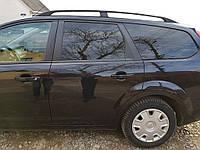 Ford Focus II 2008-2011 рр. алюмінієві Рейлінги (Caravan, Чорні)