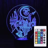 Оригинальный подарок светильник-ночник с пультом 16 цветов Хогвартс AVA-174