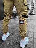 😜Спортивні штани - Чоловічі штани-спортивки світло-сірого кольору, фото 4