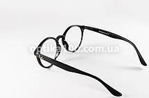 Круглые чёрные очки для зрения в стиле Ray-Ban. Корейские линзы с антибликом, фото 3