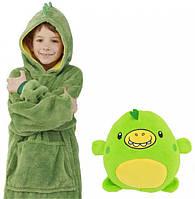 Детский худи толстовка с капюшоном Huggle Pets трансформер в игрушку Зеленый 130 - 152 см (NJ-324)