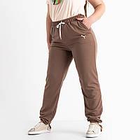 Батальные спортивные штаны для дома и отдыха 6033-2 цвет мокко. Размер 52