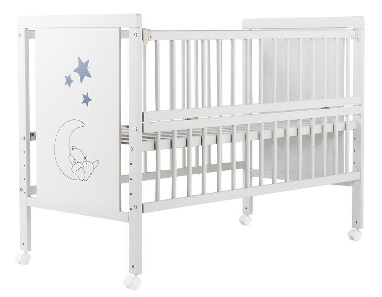 Кроватка для новорожденных Babyroom Медвежонок M-01, цвет белый