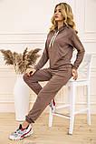 Спорт костюм женский 129R1467 цвет Бежевый, фото 2