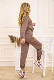 Спорт костюм женский 129R1467 цвет Бежевый, фото 3