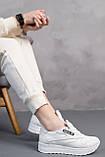 Женские кроссовки кожаные весна/осень белые Emirro R17 White Edition, фото 3