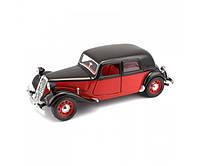 Автомодель Bburago Citroen 15 CV TA 1938 красно-черная (18-22017 red black), фото 1