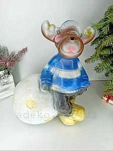 Декоративна статуетка Новорічний Олень 38 см