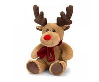 Мягкая игрушка Keel Toys Eco Олень с шарфом 35 см (SX6366)