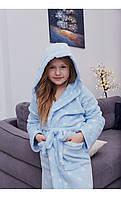 Халат голубой в горошек размер 128 Mililook