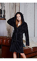 Халат кот черный размер 128 Mililook