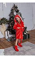 Халат кролик красный размер 104 Mililook