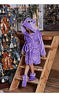 Халат сова лавандовый размер 128 Mililook