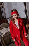 Пижама бархат красная размер 104 Mililook