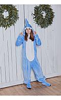 """Пижама кигуруми """"акула"""" голубая размер 116 Mililook"""