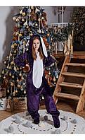 """Пижама кигуруми """"кролик"""" фиолетовый размер 116 Mililook"""