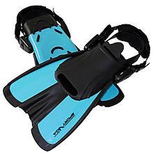 Ласты для плавания, дайвинга, снорклинга SportVida SV-DN0007JR-L размер 39-43 Black/Blue - Love&Life