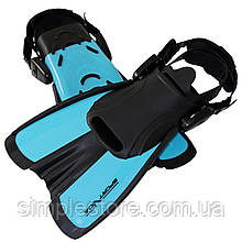 Ласты для плавания, дайвинга, снорклинга SportVida SV-DN0007JR-M размер 34-38 Black/Blue - Love&Life