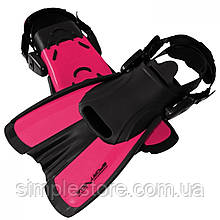 Ласты для плавания, дайвинга, снорклинга SportVida SV-DN0008JR-L размер 39-43 розовые - Love&Life