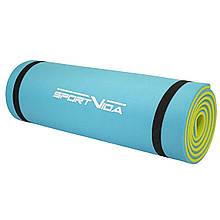 Коврик туристический (каремат) SportVida XPE 1 см SV-EZ0003 Blue/Yellow - Love&Life