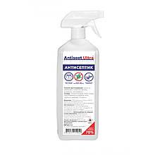 Антисептик для рук и поверхностей спреевый Antisept ULTRA (70% спирта) 1 л. Дезинфицирующее средство -