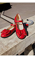 Туфли лаковые красные с бантиком размер 32 Mililook