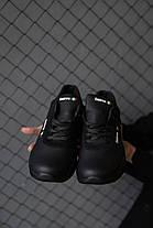 Мужские кроссовки кожаные весна/осень черные Emirro JD, фото 2