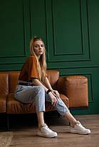 Женские кеды кожаные весна/осень белые Brand 130, фото 3