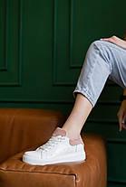 Женские кеды кожаные весна/осень белые Brand 130, фото 2