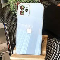 Чехол Color-Glass для Iphone 12 mini бампер с защитой камер Sky Blue