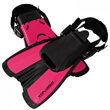 Ласты для плавания, дайвинга, снорклинга SportVida SV-DN0008JR-S размер 29-33 розовые - Love&Life
