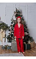 """Пижама """"верона"""" с буквой красная размер 116 Mililook"""