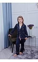 """Пижама """"верона"""" с буквой темно-синяя размер 116 Mililook"""