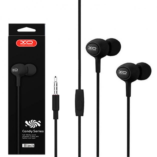 Наушники проводные XO S6 с микрофоном и кнопкой приема вызова
