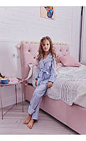"""Пижама """"верона"""" голубая в горох размер 116 Mililook"""