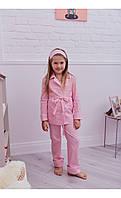 """Пижама """"верона"""" розовая в горох размер 116 Mililook"""