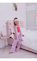 """Пижама """"рейна"""" розовая в горох размер 116 Mililook"""