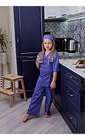"""Пижама """"рейна"""" синяя в горох размер 116 Mililook"""